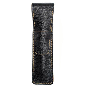 DiLoro Leather Pen Case Holder Black for One Single Pen or Mechanical Pencil - Designed in Switzerland