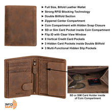 Load image into Gallery viewer, DiLoro Men's Leather Wallet Large Vertical 2.0 Dark Hunter Brown