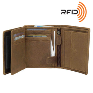 DiLoro Men's Leather Wallet Large Vertical