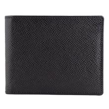 Load image into Gallery viewer, DiLoro Men's Saffiano Style Slim Bifold Leather Wallet in Firenze Black - Front View