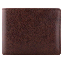 Load image into Gallery viewer, DiLoro Men's Bifold Leather Wallet Lugano Gemini Brown - Front View