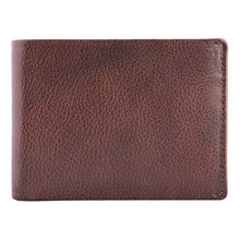 Load image into Gallery viewer, DiLoro Men's Slim Leather Wallet 2 ID Windows Gemini Brown - Front View