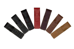 DiLoro Single Leather One Pen Holder in Various Colors - Color Wheel
