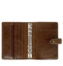 Load image into Gallery viewer, Filofax Malden Personal Ochre Leather Organizer Agenda Calendars 2020 Inside View