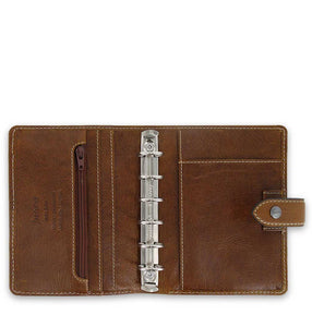 Filofax Malden Pocket Ochre Leather Organizer Agenda Calendars 2020 Inside View