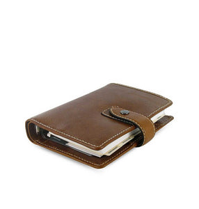 Filofax Malden Pocket Ochre Leather Organizer Agenda Calendars 2020 Side View
