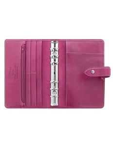 Filofax Malden Personal Fuchsia Leather Organizer Agenda Calendars 2020 Inside View