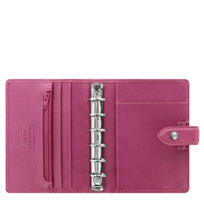 Filofax Malden Pocket Fuchsia Leather Organizer Agenda Calendars 2020 Inside Open View