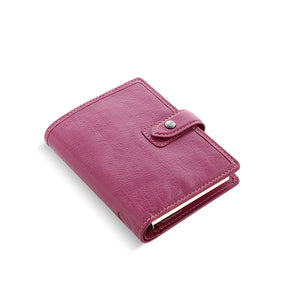 Filofax Malden Pocket Fuchsia Leather Organizer Agenda Calendars 2020 Side View