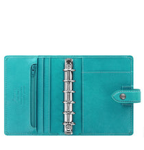 Load image into Gallery viewer, Filofax Malden Pocket Kingfisher Leather Organizer Agenda Calendars 2020 Open, Inside View