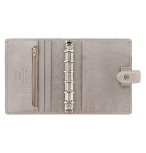 Filofax Malden Pocket Stone Leather Organizer Agenda Calendars 2020 Inside View