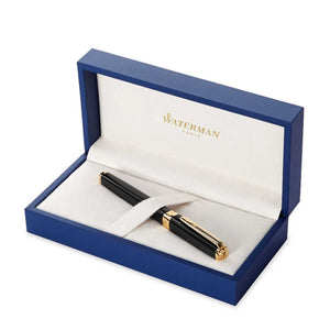 Waterman Exception Fountain Pen Slim Black GT - Gift Box Open