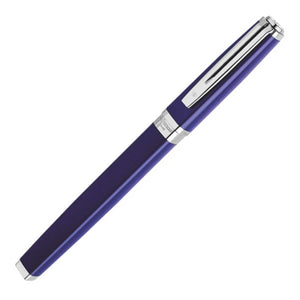 Waterman Exception Fountain Pen Slim Blue Silver Trim (ST) - Capped