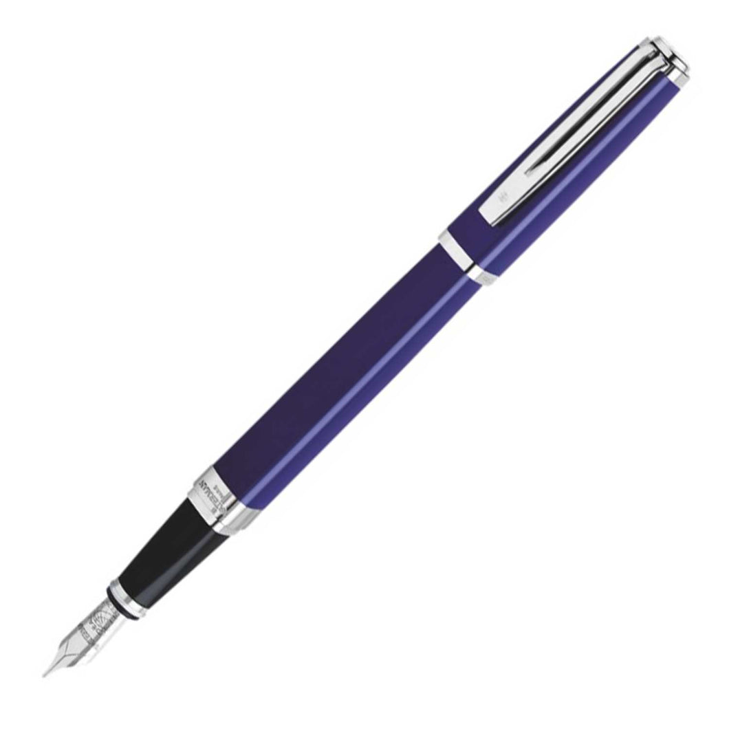 Waterman Exception Fountain Pen Slim Blue Silver Trim (ST)