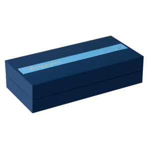 Waterman Exception Fountain Pen Slim Blue Silver Trim (ST) - Gift Box Closed