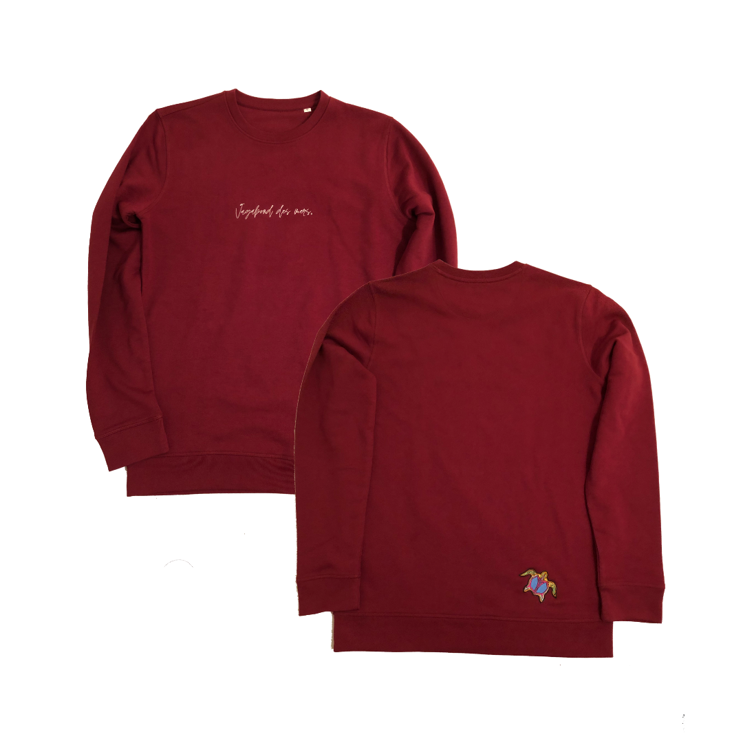 'Vagabond' Sweater Unisex - Burgundy
