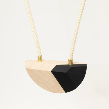 Black and Maple Necklace