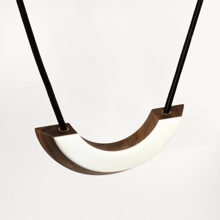 Walnut Arch Necklace