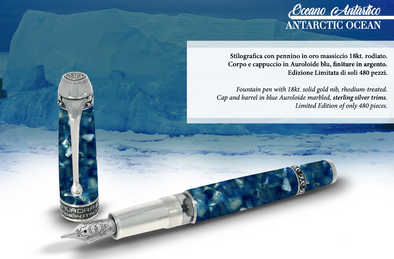 Aurora Oceano Antarctic Fountain Pen Limited Edition