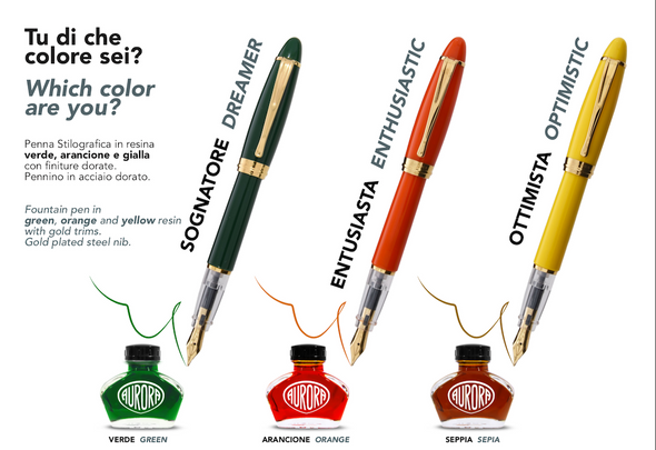 Aurora Ipsilon Demo Colors Fountain Pens
