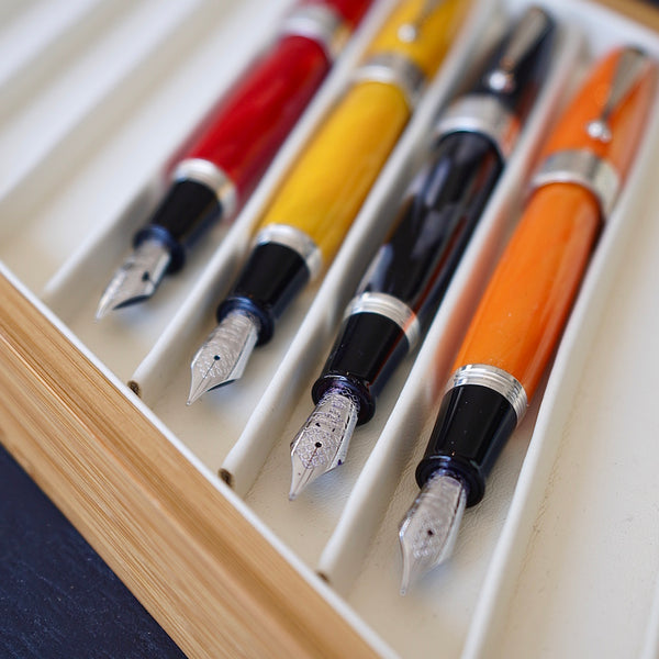 Montegrappa Miya 450 - Orange Fountain Pen and Leather Case