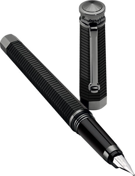 Montegrappa Nero Uno Gun Metal Linea Fountain Pen