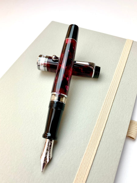 Aurora Optima Fountain Pen - Burgundy
