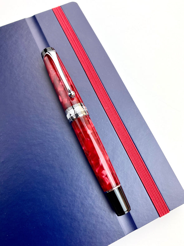 Aurora Optima Fountain Pen - Red