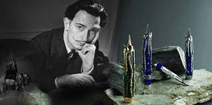 "Montegrappa Salvador Dali Surrealista ""Apparition of Face"" Fountain Pen, Silver - Broad Nib"
