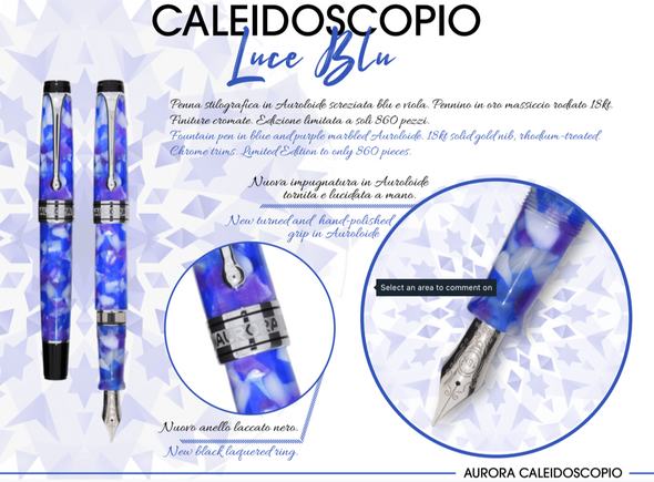 Aurora Optima Caleidoscopio Luce Blue