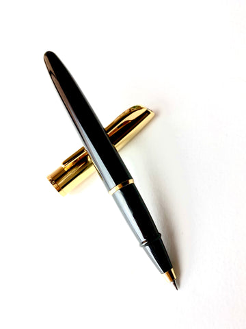 Aurora Style Black Resin with Gold Trim Rollerball