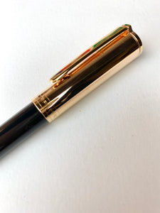 Aurora TU Ballpoint Black Resin w/ Gold Cap