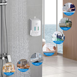 Wall Mounted Double Hand Soap Pump Dispenser