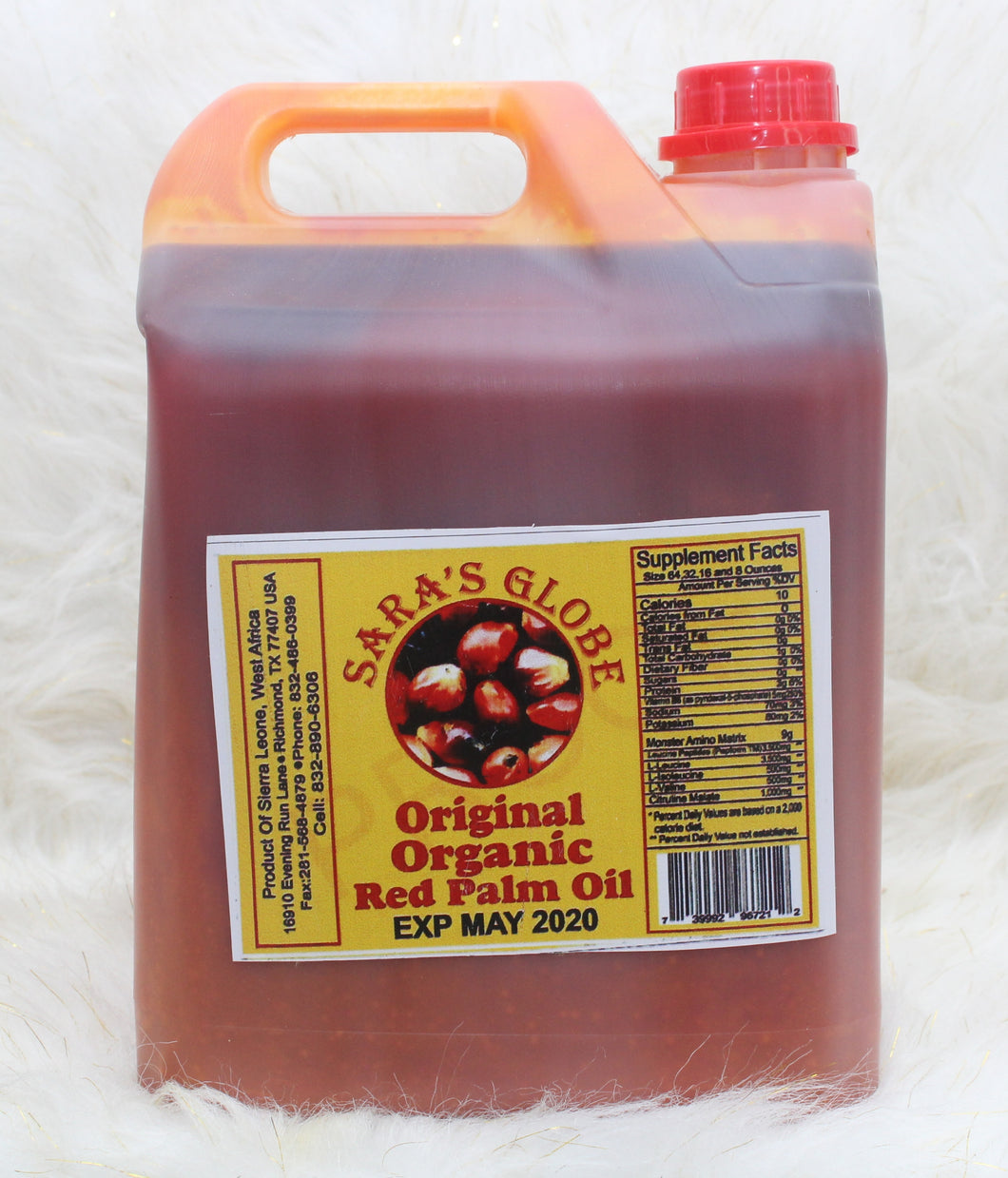 SARA'S GLOBE| Original Organic Red Palm Oil