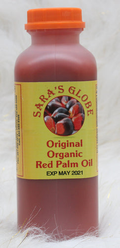 SARA'S GLOBE Original Organic Red Palm Oil