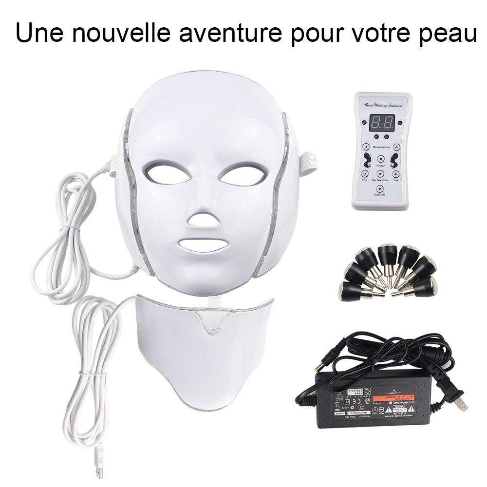 Masque led, Luminothérapie,photomodulation, soin contre l'acné