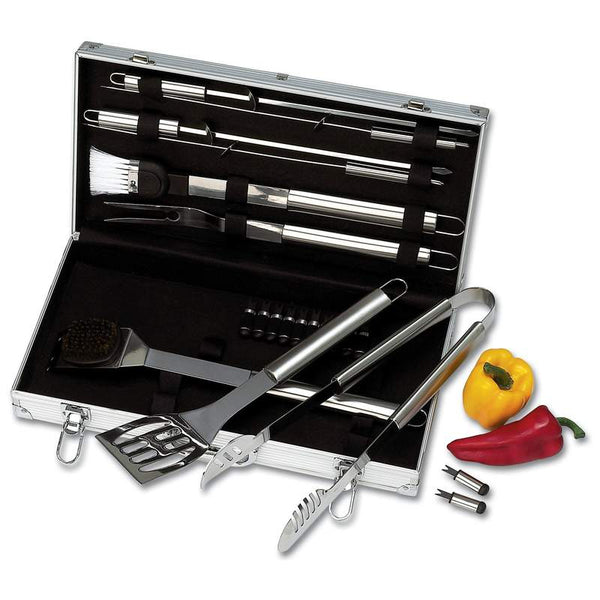 Chefmaster™ 22pc Stainless Steel Barbeque Tool Set - Home Decor and Kitchen