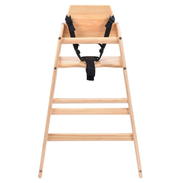 Wooden Baby High Chair Feeding Seat-Natural - Home Decor and Kitchen