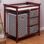 2 Colors Baby Diaper Storage Changing Table w/ 3 Baskets-Cherry - Home Decor and Kitchen