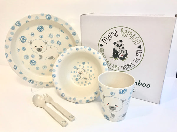 Bamboo dinner set - Panuk the Polar Bear