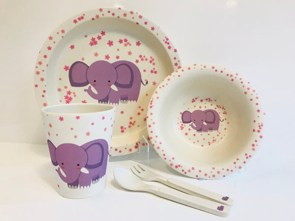 Bamboo dinner set - Eka the Elephant