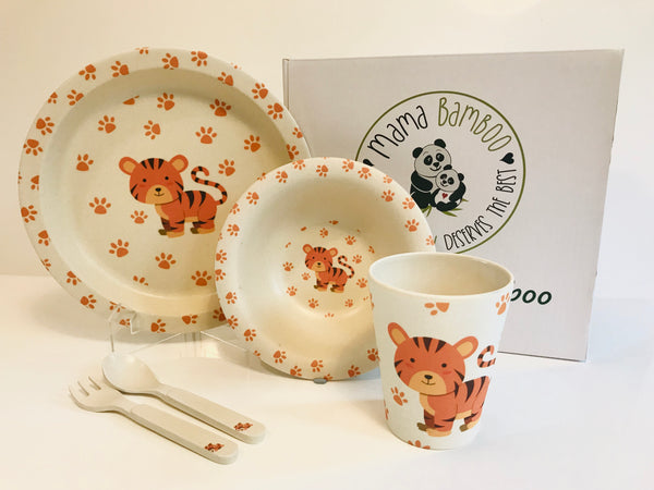 Bamboo dinner set - Thansanee the Tiger