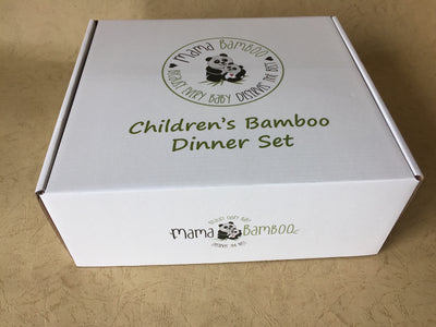 Bamboo dinner set - Ponya the Red Panda - Mama Bamboo