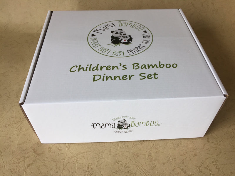 Bamboo dinner set - Ponya the Red Panda