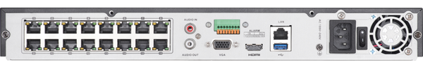 16 Channel 4k NVR with Built in 16 PoE ports for IP cameras | ONVIF Capable