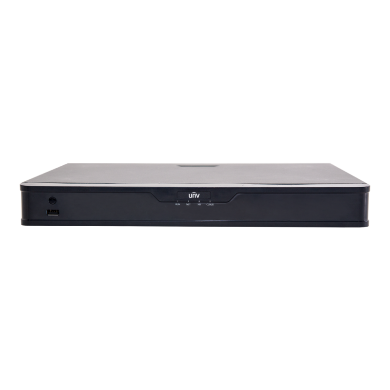 Uniview NVR302-16E-P16-B 16Channel 4k NVR with Built in PoE ports | 2 SATA | H.265 | Mobile Viewing Capability | ONVIF