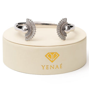 Yenaé Rhodium Plated Tsirur Bracelet in a Gift-ready Package
