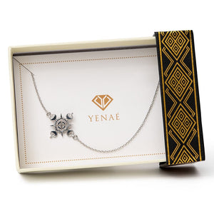 Yenaé Rhodium Plated Lalibela Cross Necklace in a Gift-ready Package