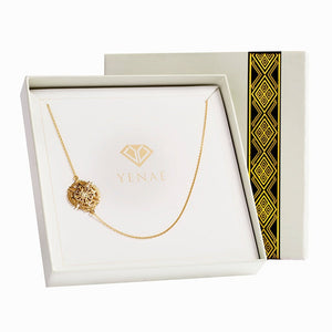 Yenaé 14K Gold Plated Axum Cross Necklace in a Gift-ready Package