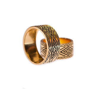 Yenaé 14K Gold Plated Dorze Tibeb Ring Displayed